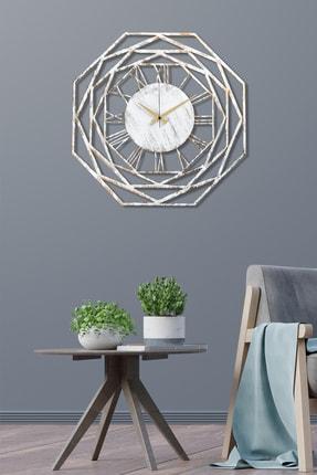Muyika Design Muyika Repido Beyaz Eskitme Metal Duvar Saati 41x41cm
