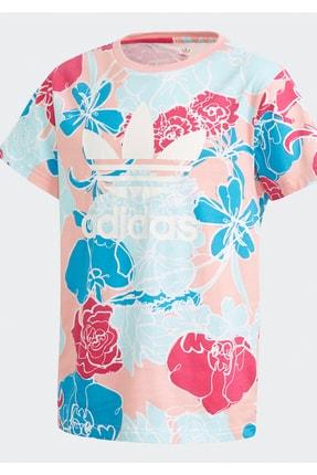 adidas Kız Çocuk Pembe Mavi Tshirt