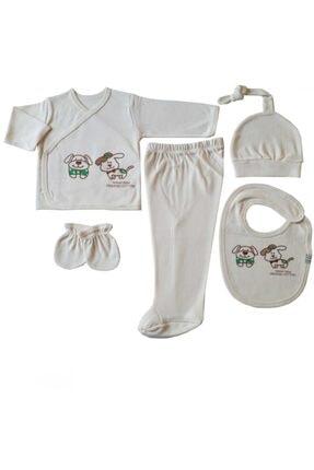 Misket Unisex Bebek Organic 5 Li Hastane Çıkışı