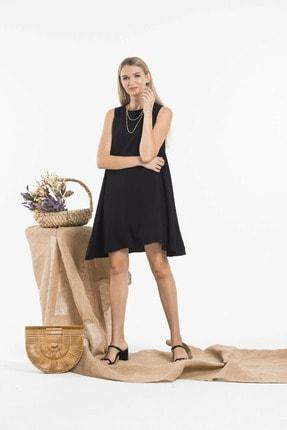 YADOCO Kadın Siyah Sıfır Kol Çan Model Elbise Ydc-10153