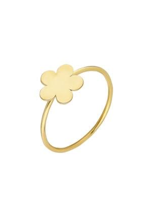 Glorria Altın Çiçek Yüzük