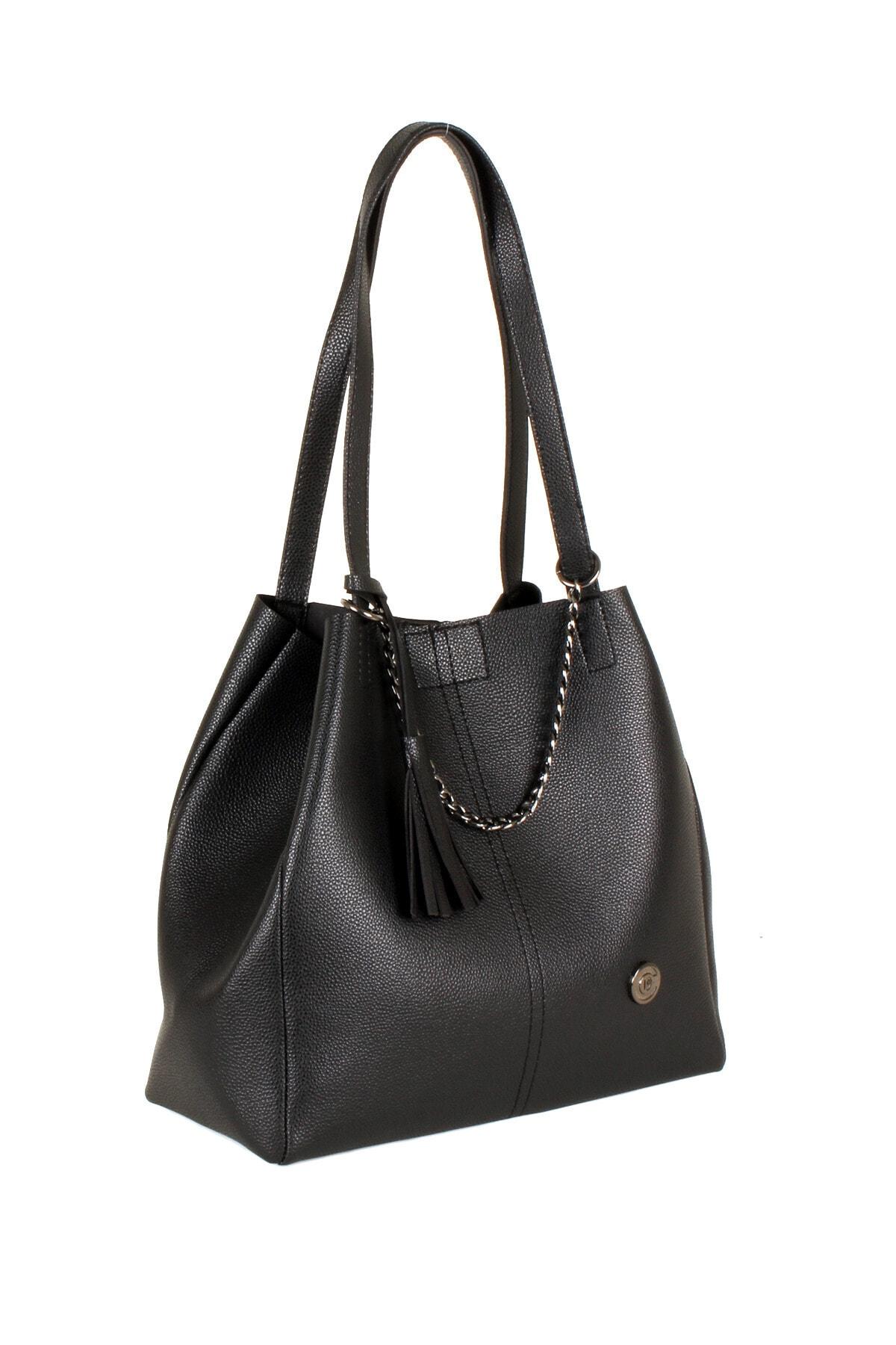 Luwwe Bag's Kadın Siyah Omuz Çanta Lwe20099-s 2