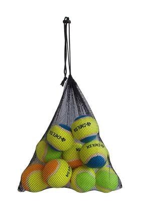 Delta 12 Adet Taşınabilir Filede Renkli Tenis Topu