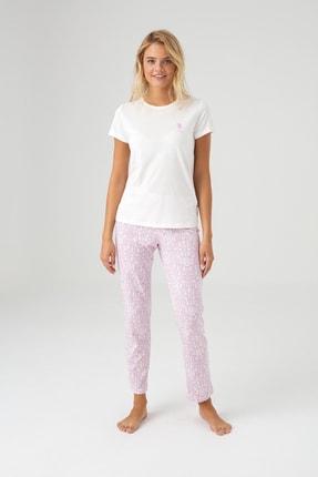 U.S. Polo Assn. Kadın Ekru Pijama Takım