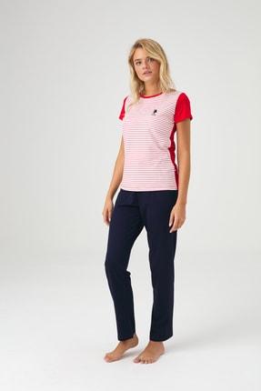 U.S. Polo Assn. Kadın Lacivert Pijama Takım