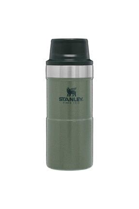 Stanley Klasik Trigger-Action Yeşil Siyah Kapaklı Seyahat Bardağı 0,35 Lt Yeşil 10-06440-014Yeşil