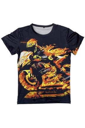 Prosev Monster Motosiklet Erkek T-shirt Füme