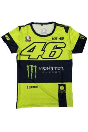Prosev Monster 46 Motosiklet Erkek T-shirt Siyah-neon