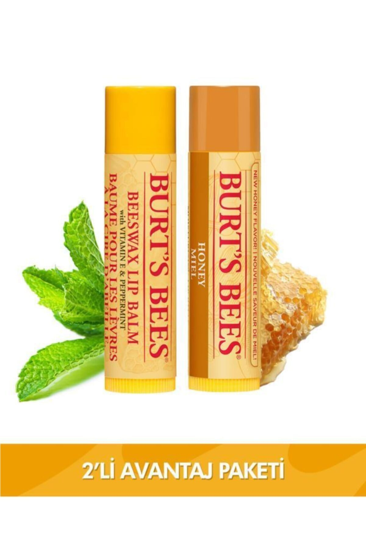 Burts Bees Beeswax + Bal Aromalı Dudak Bakım Kremi Avantaj Seti 1