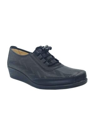 Wanetti Kadın Siyah Ortopedik Ayakkabı Cmf-357