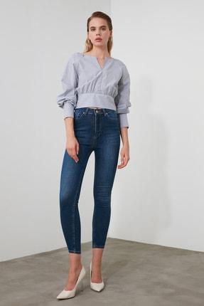 TRENDYOLMİLLA Mavi  Yüksek Bel Skinny Jeans TWOAW21JE0249