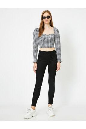Koton Kadın Yüksek Bel Skinny Carmen Pantolon
