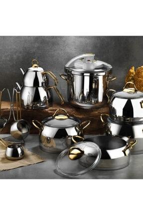 Kütahya Porselen Gold Merkür Çelik Çeyiz Seti 18 Parça