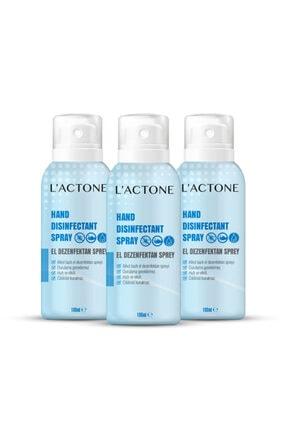L'ACTONE Lactone 3'lü Dezenfektan El Spreyi