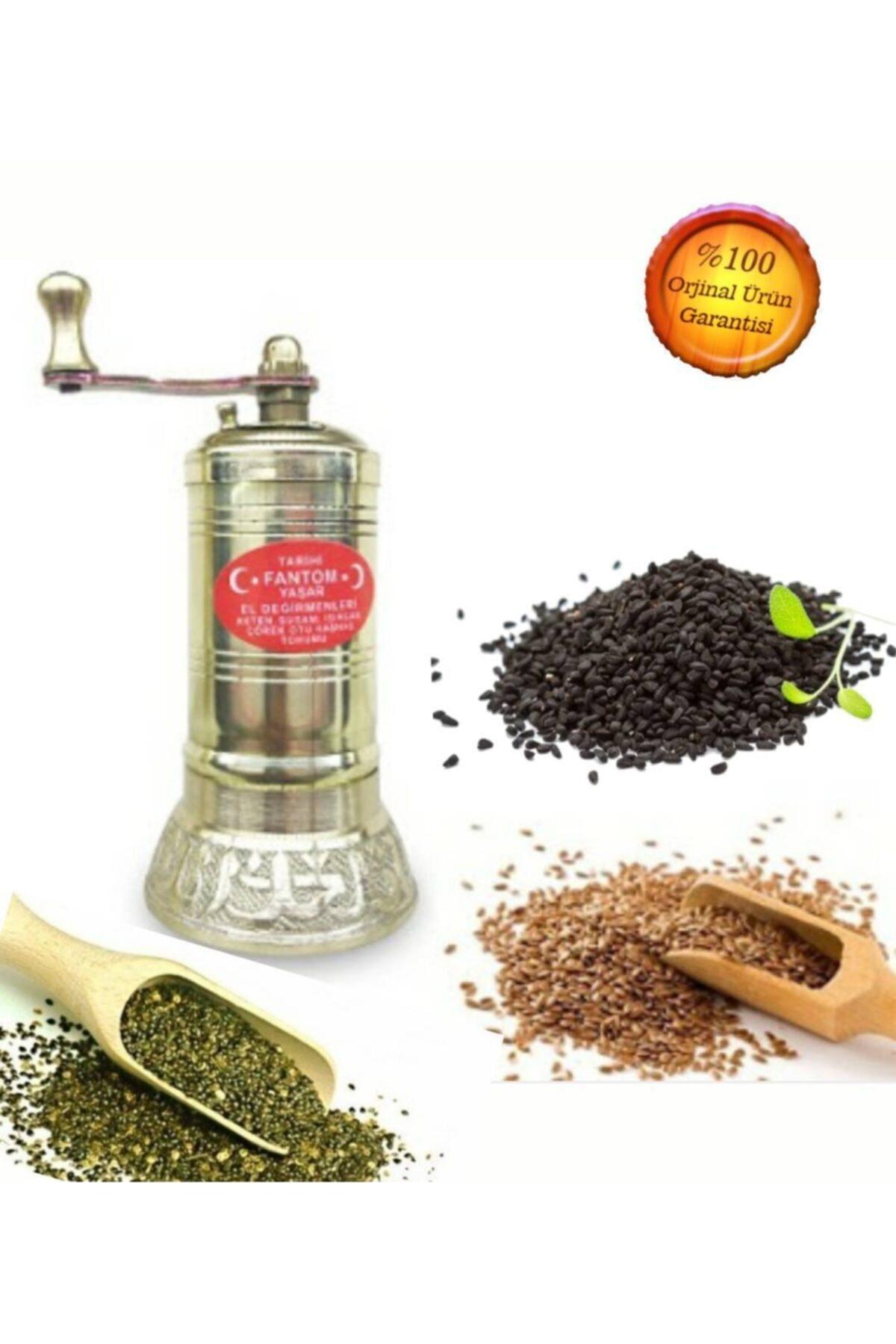 Fantom Pirinç Işlemeli Isırgan-keten Tohumu Öğütücü Değirmeni 1