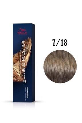 Wella Koleston Perfect Me Orta Küllü Inci Sarısı Saç Boyası 7/18 60 ml