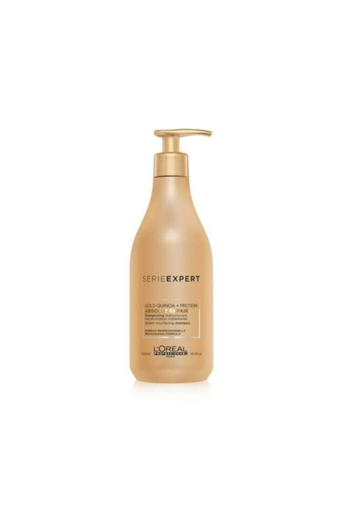 L'oreal Professionnel Yıpranmış Saçlar için Onarıcı Şampuan - Absolut Repair Gold Quinoa+Protein 500 ml 3474630640627 1