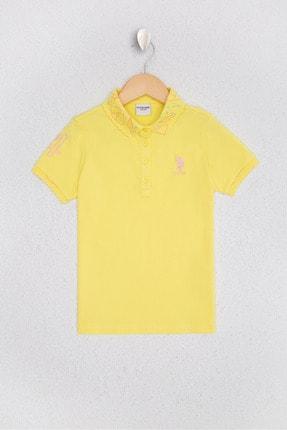 U.S. Polo Assn. Sari Kız Çocuk T-Shirt