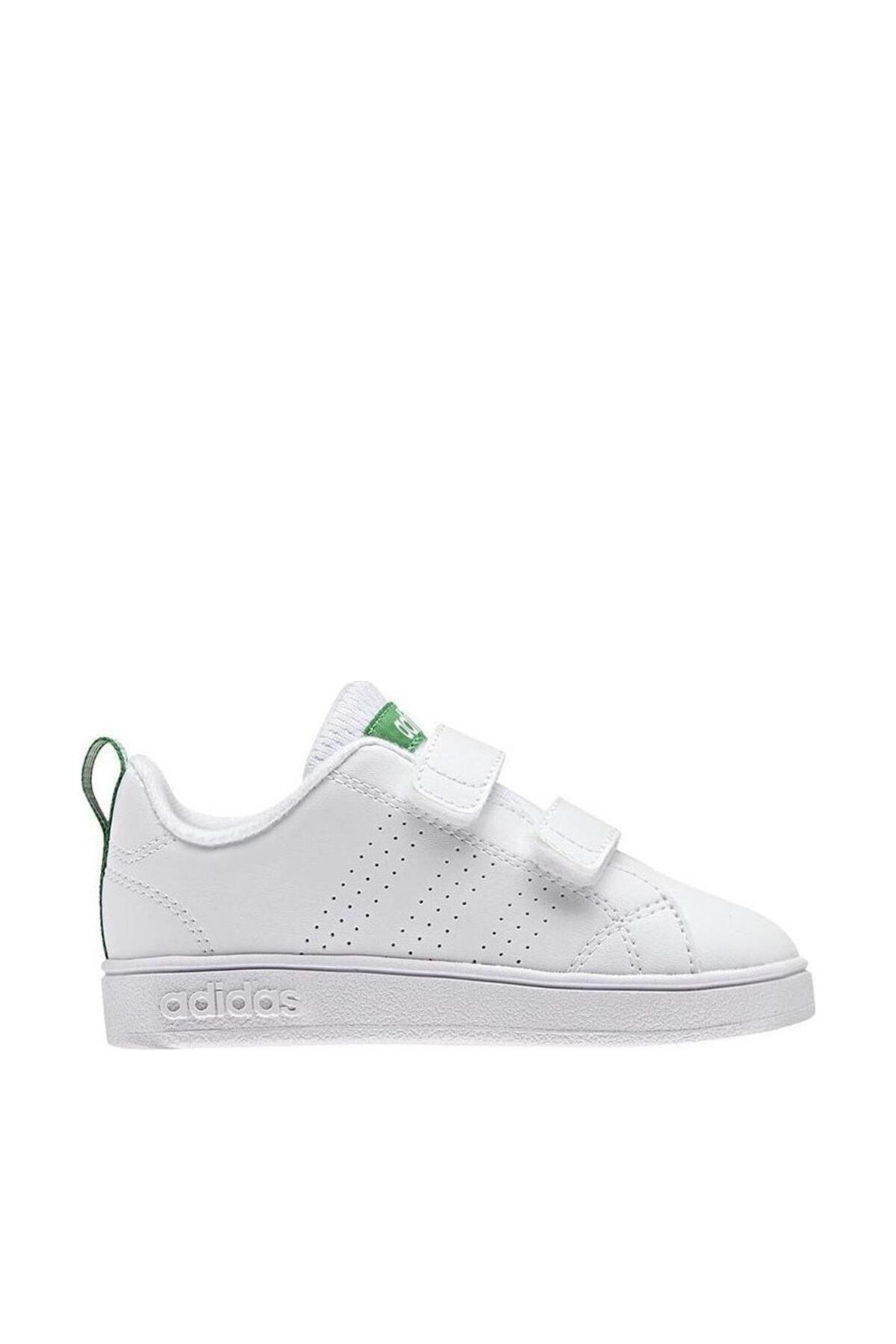 adidas VS ADVANTAGE CLEAN INF Beyaz Yeşil Erkek Çocuk Tenis Ayakkabısı 100260378 1