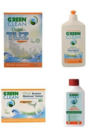 U Green Clean Tablet+tuz+parlatıcı+makine Temizleyici Set