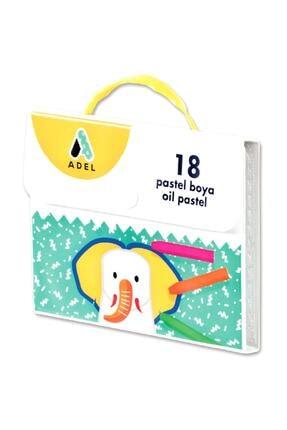 Adel Çantalı Pastel Boya 18 Renk