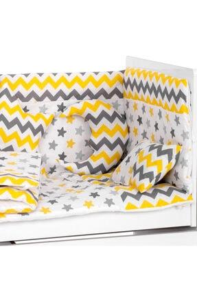 Get Lock Sluupy Sarı Gri Yıldız Bebek Uyku Seti60 x 120 cm 7 Parça