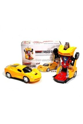 Happy Toys Pilli Işıklı Sesli Robota Dönüşen Araba