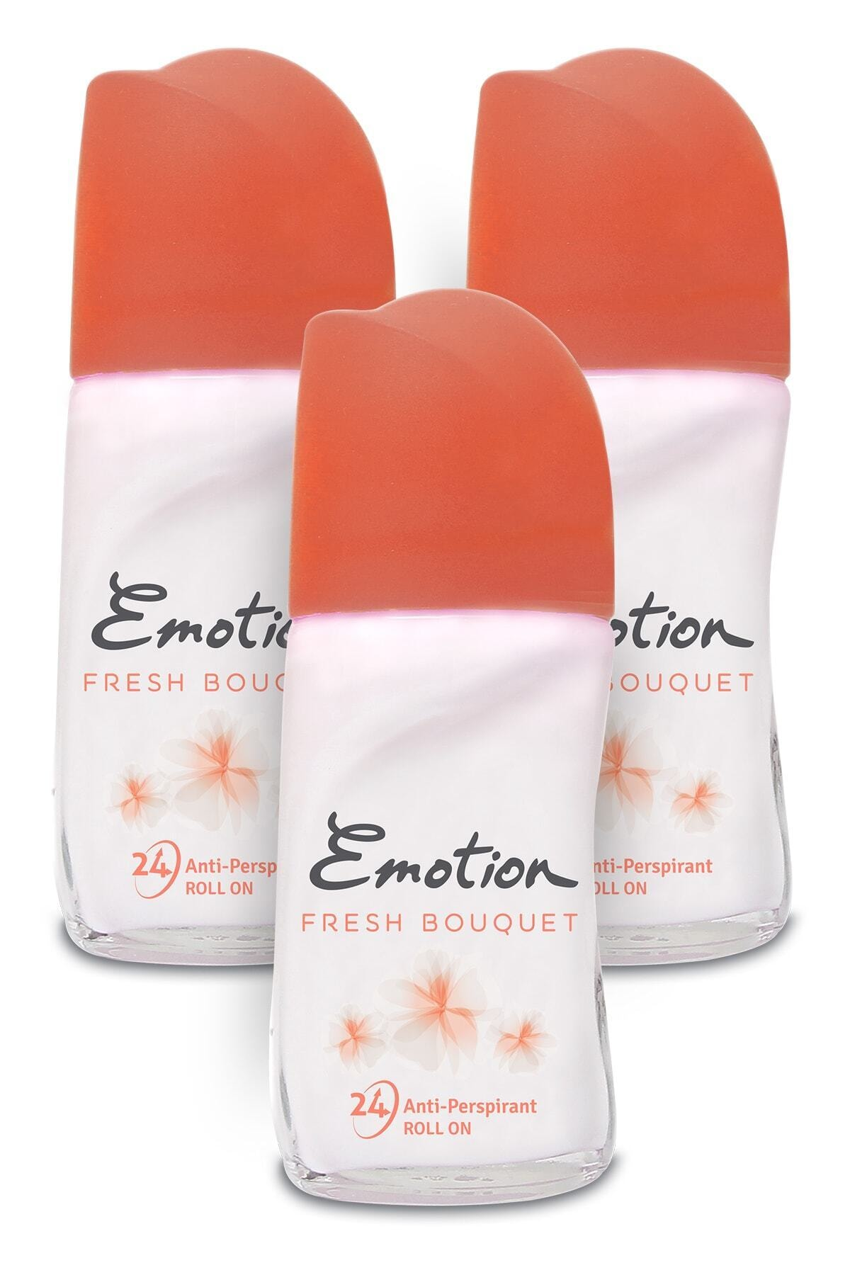 Emotion Fresh Bouquet Kadın Roll-On Deodorant 3x50ml 1