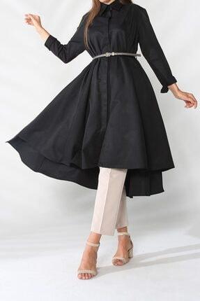 ALLDAY Kadın Siyah Kemerli Kloş Tunik 51905