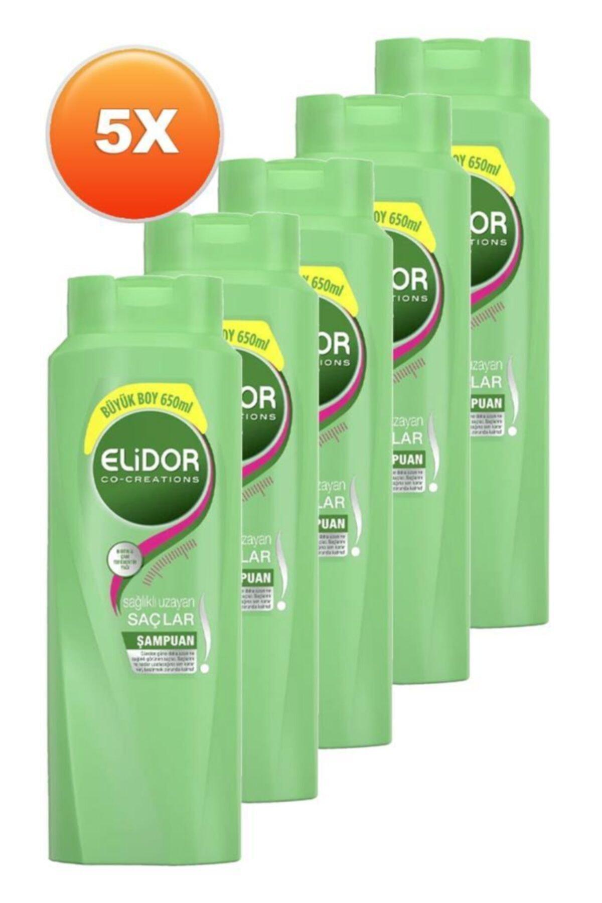 Elidor Şampuan Sağlıklı Uzayan Saçlar 650 Ml. Beşli Set 2