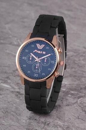 Polo55 Plks001r01 Kadın Saat Dekoratif Göstergeli Kadran Silikon Kordon