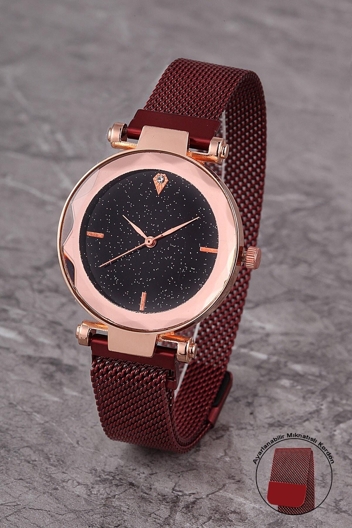 Polo55 Plkhm008r04 Kadın Saat Çizgili Prizma Kadran Mıknatıslı Hasır Kordon 1