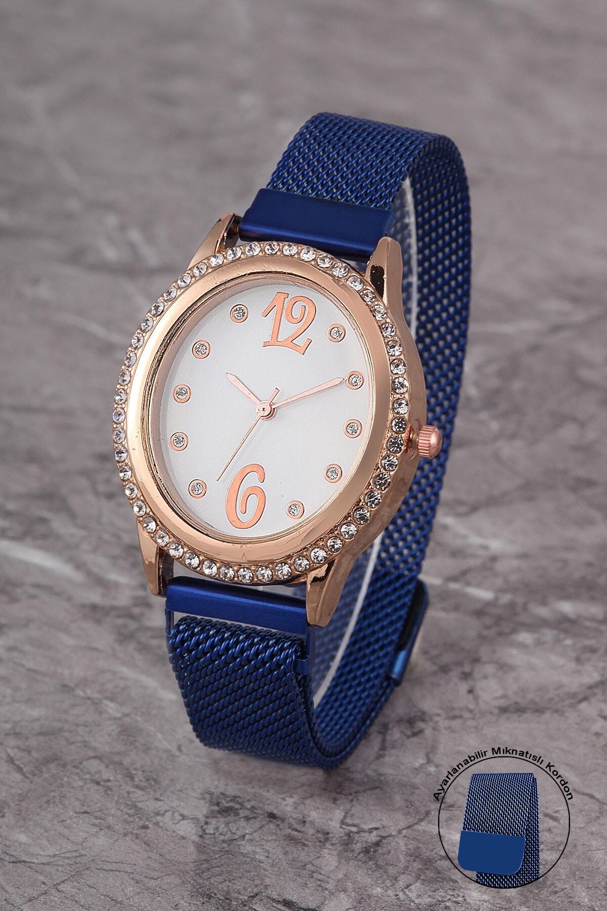 Polo55 Plkhm009r05 Kadın Saat Taşlı Şık Kadran Mıknatıslı Hasır Kordon 1