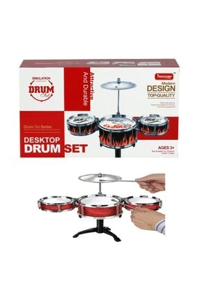 ERKOL OYUNCAK Çocuk Jazz Drum Eğitici Seti Küçük Boy Oyuncak Bateri