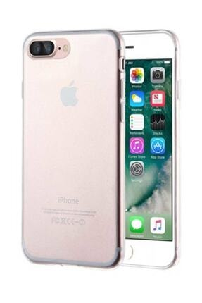 Apple İphone 7 Plus - 8 Plus Toz Koruma Tıpalı Ultra İnce Şeffaf Silikon Kılıf