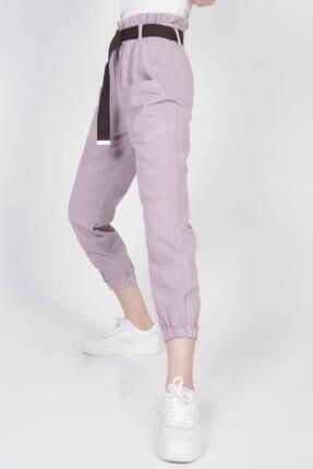 Addax Kadın Lila Cep Detaylı Pantolon Pn4139 Pnd