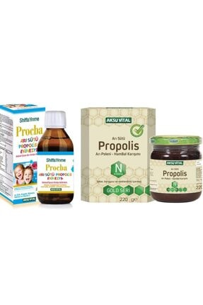 Shiffa Home Procba Arı Sütü, Propolis, Ekinezya Şurup & Propolis Arı Sütü Bal Polen Macunu 220 Gr