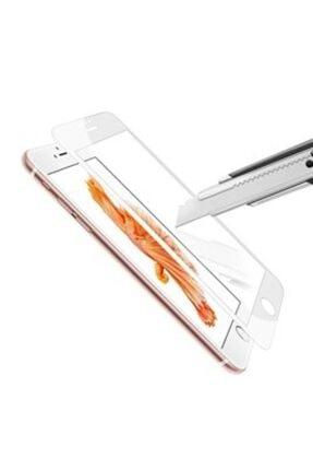 AZR Iphone 6 Plus 6d Beyaz Ekran Koruyucu Tam Kaplama Kırılmaz Cam