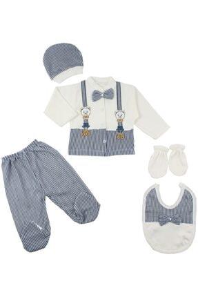 Bambino Erkek Bebek Beyaz 5'li Hastane Çıkışı Seti