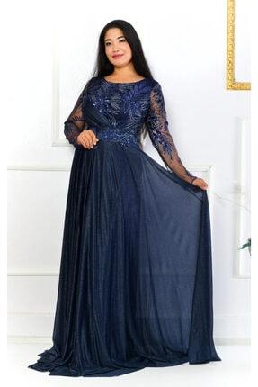 NİVOLA Kadın Lacivert İşlemeli Elbise
