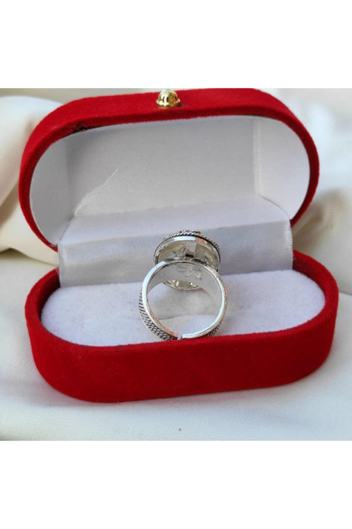 Telkari Dünyası Kadın Çiçek Işlemeli Oval Telkari Gümüş Yüzük 2
