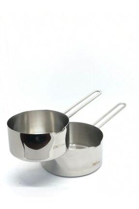 İnci Çelik Kaçerola Sütlük No:1 Ve No:2 2'li Set (12cm - 14cm)