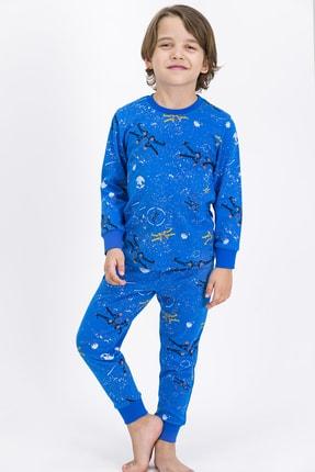 ROLY POLY Erkek Çocuk Mavi Space Pijama Takımı