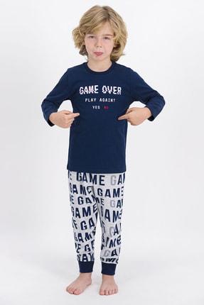 ROLY POLY Erkek Çocuk Lacivert Game Over Pijama Takımı