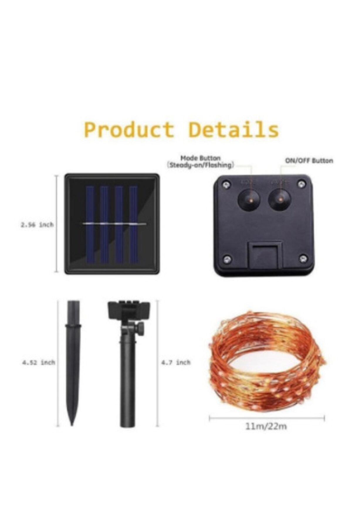 LEDREYON 5 Metre Güneş Enerjili Dış Mekan Peri Ip Led Işık Dekoratif Aydınlatma Solar Led 2