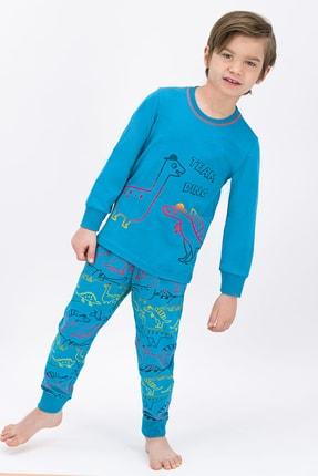 ROLY POLY Erkek Çocuk Mavi Team Dino Pijama Takımı