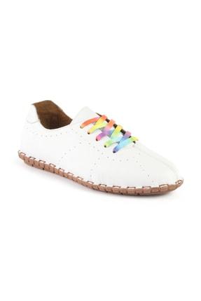 Libero Ms2902 Oxford Kadın Beyaz Ayakkabı