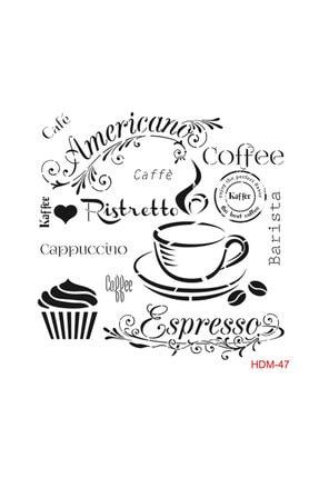 Cadence Kahve Stencil (şablon) 25x25 Cm