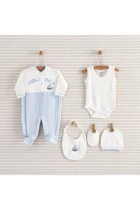 Bebbek Erkek Bebek Mavi Holiday 5 li Takım