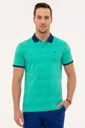 Pierre Cardin Erkek Yeşil Slim Fit Polo Yaka T-Shirt